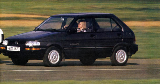 Subaru Justy 4WD 1000 / 1200 - MY89-94
