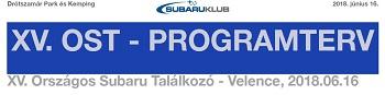 A XV. Országos Subaru Találkozó programja