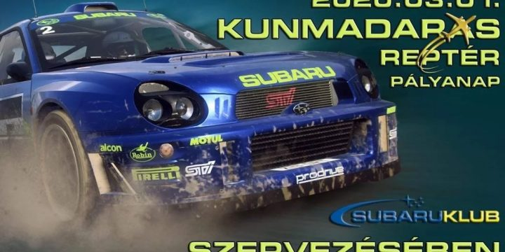 Pályanap a Kunmadarasi reptéren 2020.03.01. a Subaru Klub szervezésében